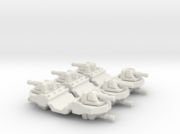 Pulson-A Combat Transport 1-403 Gun Module in White Natural Versatile Plastic