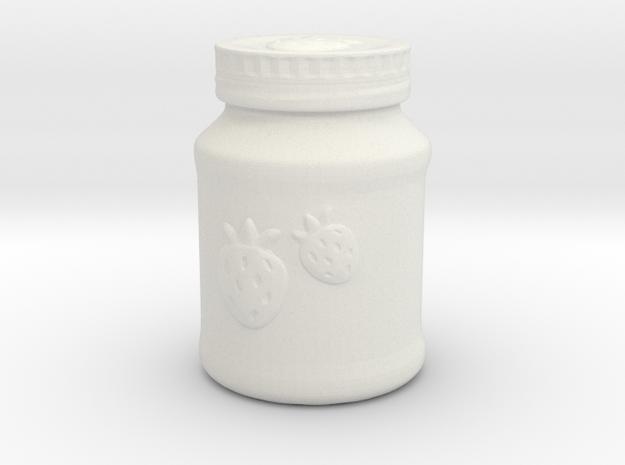 Mason Jar Of Jam in White Natural Versatile Plastic