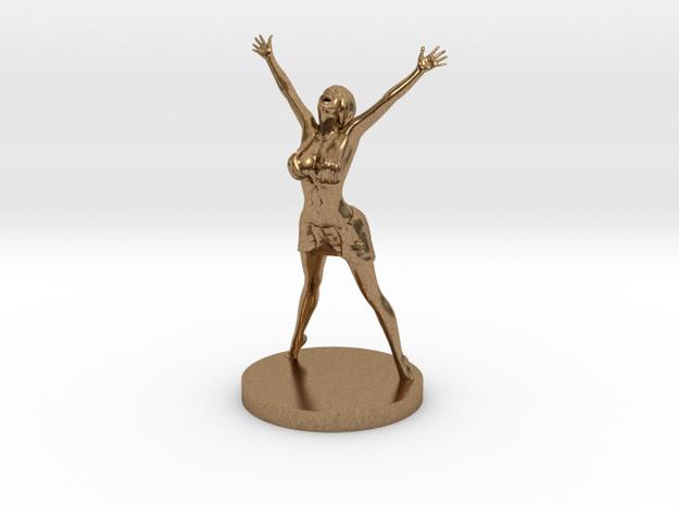 Joyful In Heart Figurine in Natural Brass