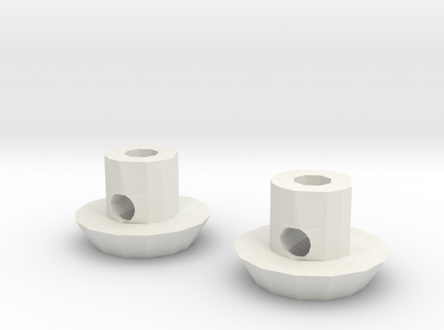 Wing Buttons (1 Pair) in White Strong & Flexible