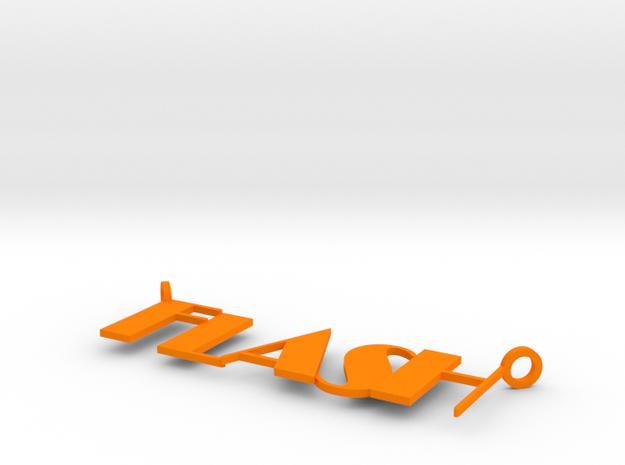 Flash in Orange Processed Versatile Plastic
