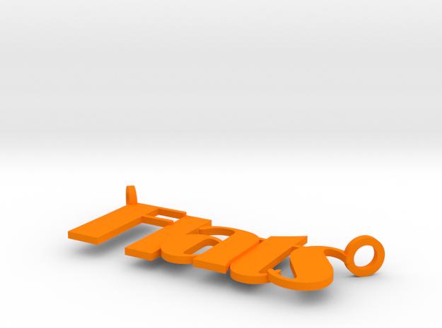 Flats in Orange Processed Versatile Plastic