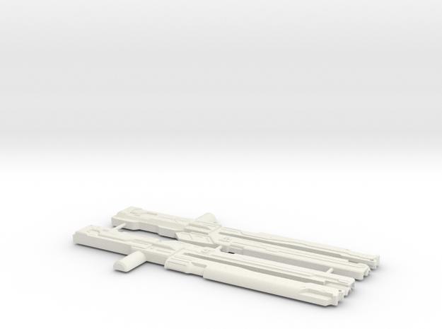 Railgun Wrecker in White Natural Versatile Plastic