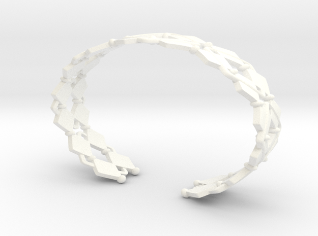 Diamond and pearls bracelet 3d printed