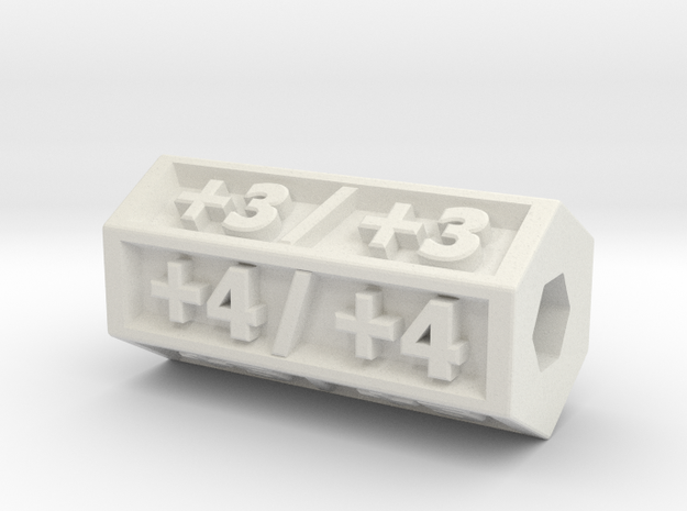 Magic:The Gathering  +1/+1 Counter  in White Natural Versatile Plastic