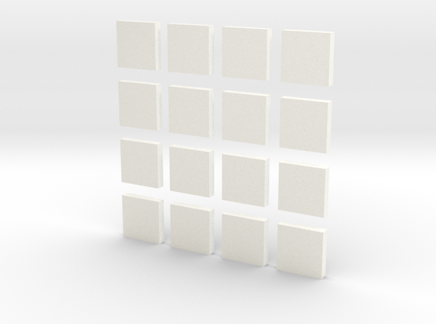 DIY 2048 Coaster Set (White Pieces) in White Processed Versatile Plastic