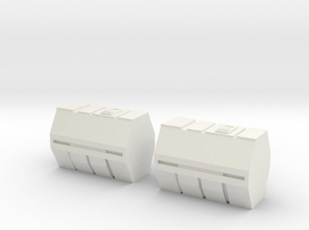 1/87 Scale Medical Containers 3d printed