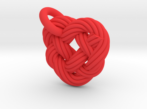 Celtic Heart Knot in Red Processed Versatile Plastic