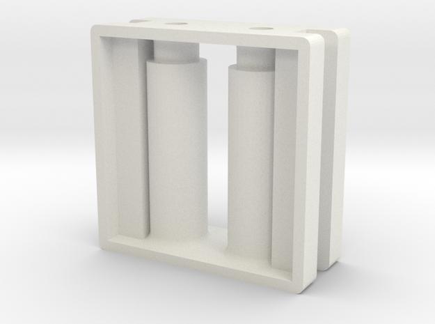 Drager-blok-V2 in White Natural Versatile Plastic