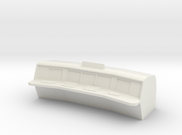 1/87 Scale Control Room Console in White Natural Versatile Plastic