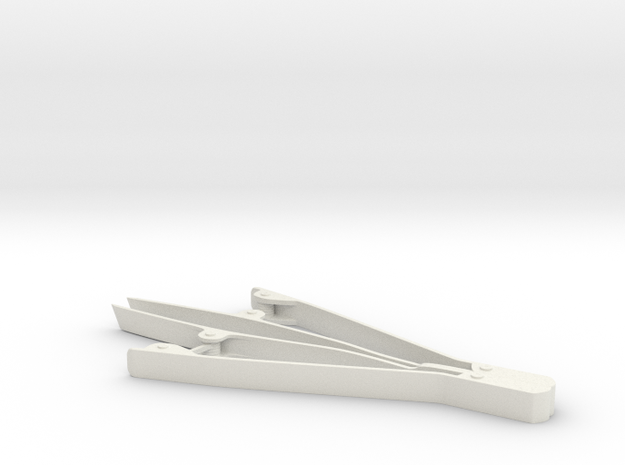 Tweezers (non working) in White Natural Versatile Plastic