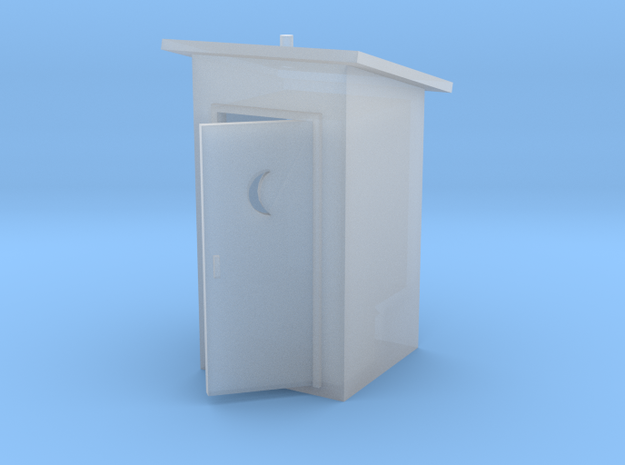 S-Scale Slant Roof Outhouse 3d printed