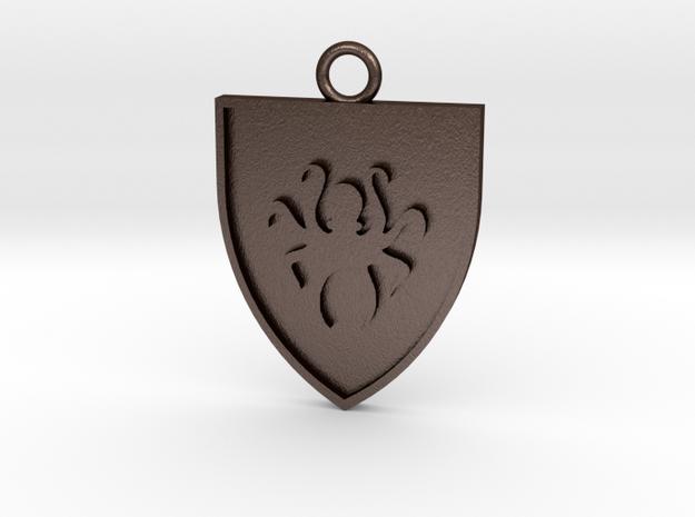 Heraldic Octopus Pendant/Fob 3d printed