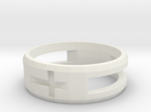Double Cross Ring (Less Material) 3d printed