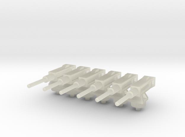 Ametralladora/Machine gun (6x) 3d printed