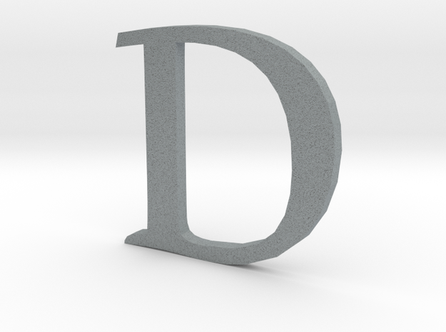 D (letters series) 3d printed