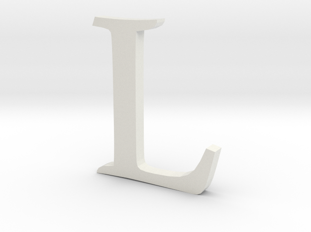 L (letters series) in White Natural Versatile Plastic
