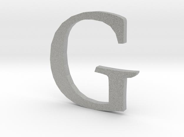 G (letters series) in Metallic Plastic