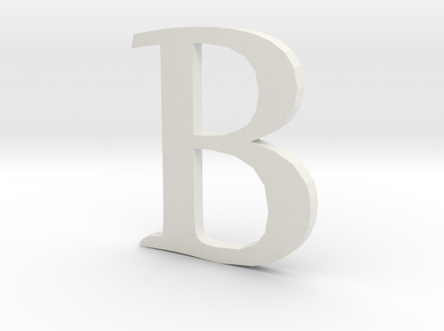 B (letters series) in White Natural Versatile Plastic