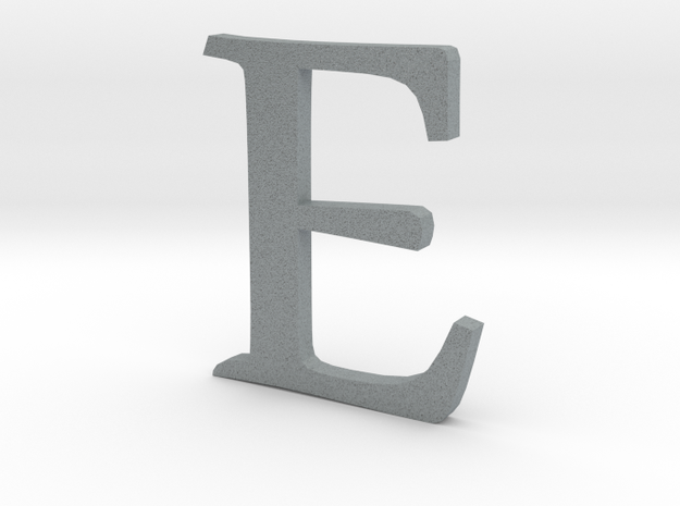 E (letters series) 3d printed