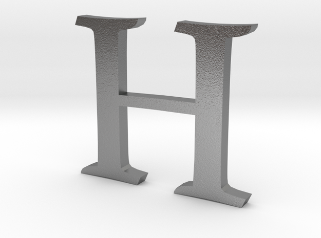 H (letters series) in Natural Silver