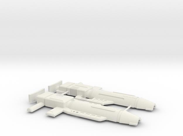 City Commander Gun in White Natural Versatile Plastic