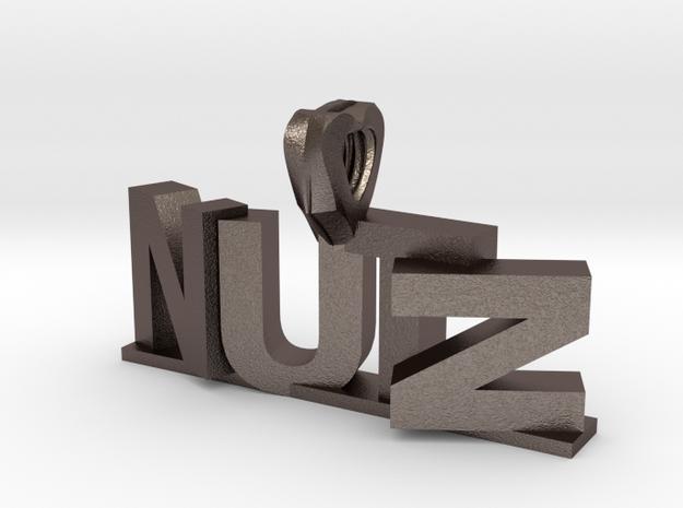 Nutz Leters 1 3d printed