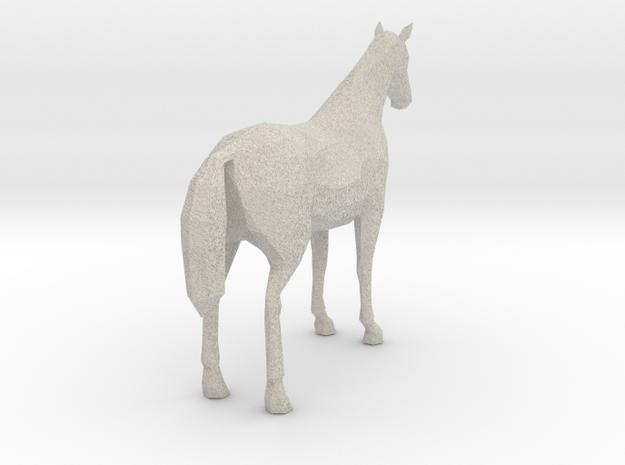 Horse Chocolate Palomino 3d printed