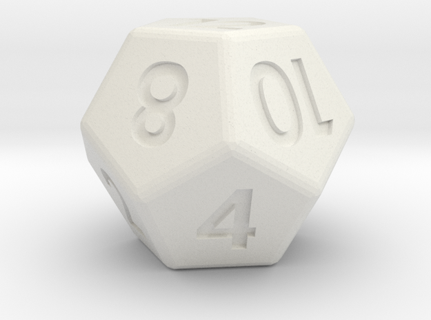12-sided die (d12) 3d printed