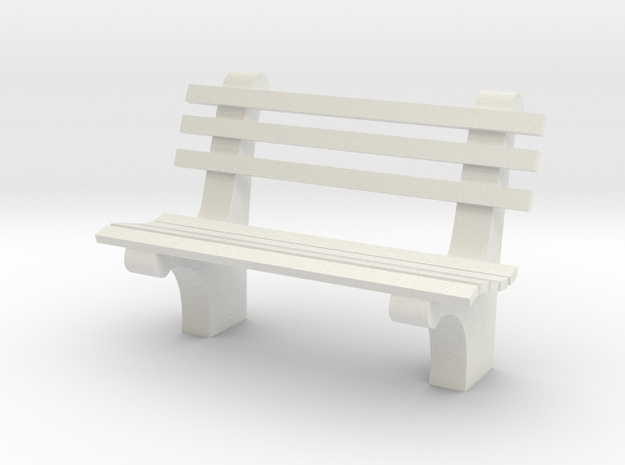 1:24 Park Bench Sixties (Not Full Scale) 3d printed