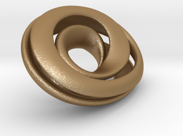 Split Mobius band - 30mm oval 3d printed
