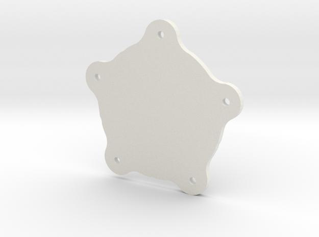 TorqueThrustDCentercap in White Natural Versatile Plastic