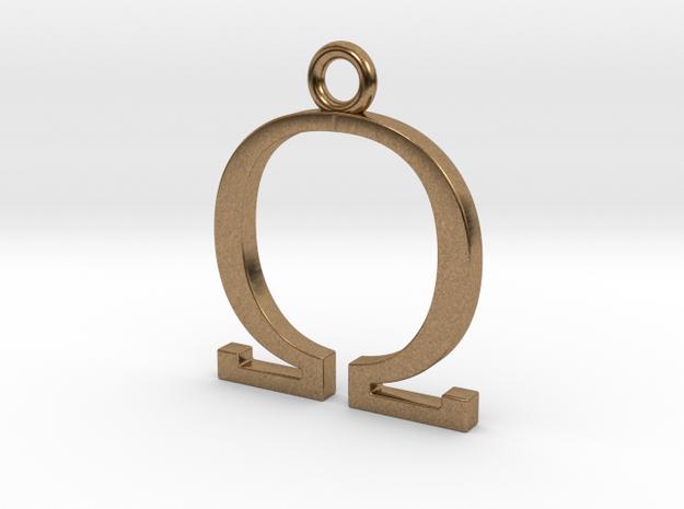 Omega Pendant 3d printed