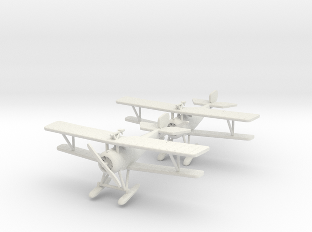 "Nieuport 17bis ""Skis"" 1:144th Scale 3d printed"