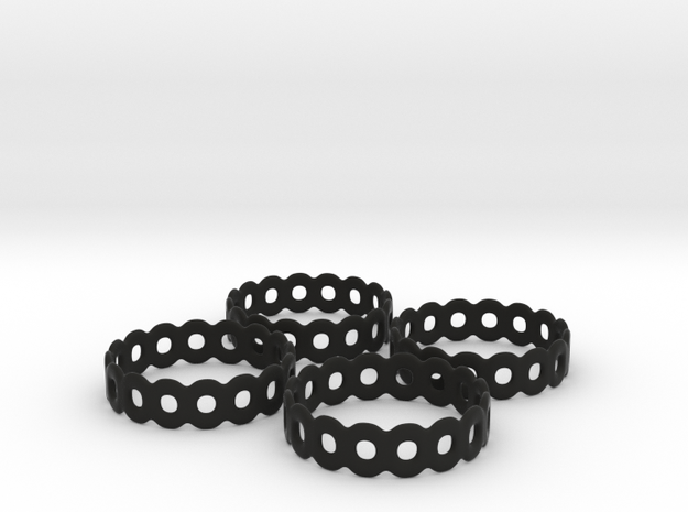 Daisy Chain Napkin Rings (4) 3d printed