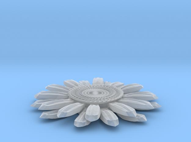 Sun Flower Loop in Smooth Fine Detail Plastic
