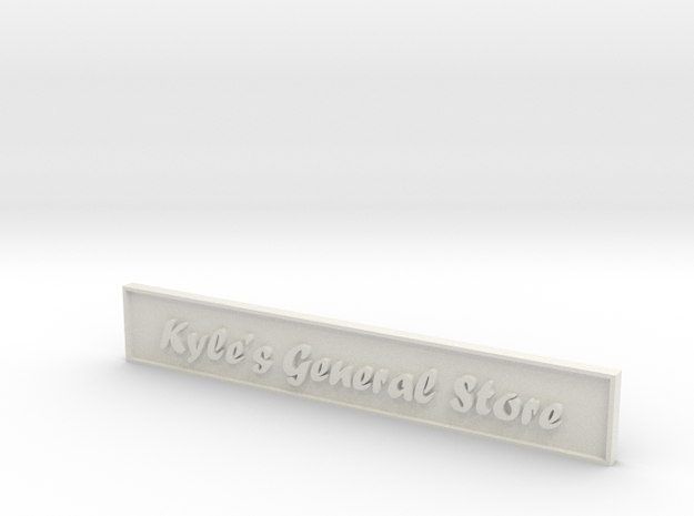 1:24 General Store Sign in White Natural Versatile Plastic