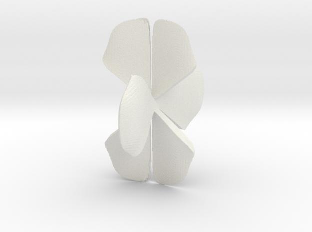 Juliabulb-sqrtz^23-x=05-it=15-step=500 in White Natural Versatile Plastic