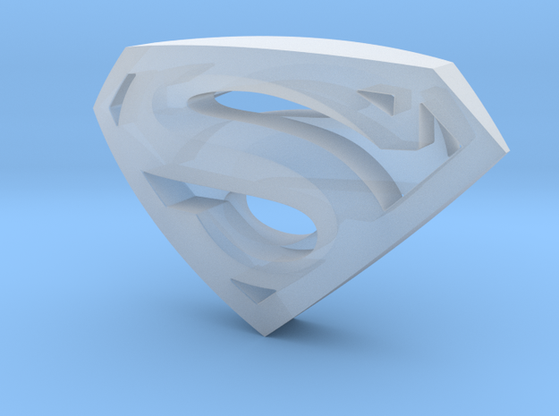 SupermanLogoII in Smooth Fine Detail Plastic