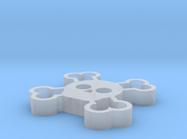 CrossBones in Smooth Fine Detail Plastic