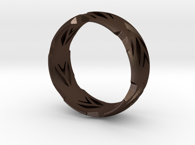 HappySad Ring  3d printed