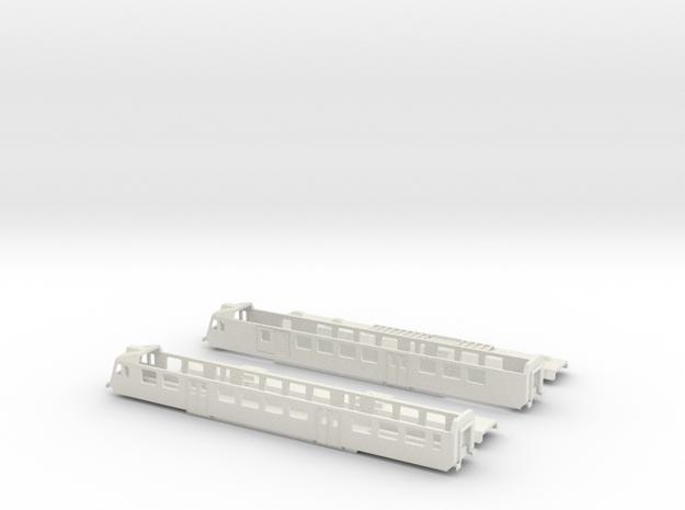 "SBB RBDe 560 ""NPZ"" - TT scale in White Natural Versatile Plastic"