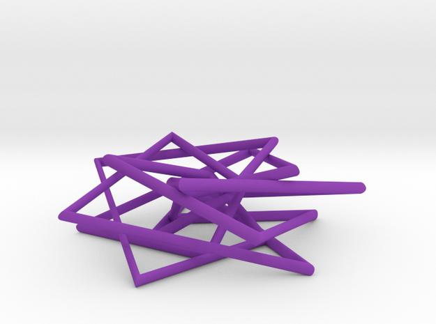7 Strand Pentagonal Pendant 3d printed