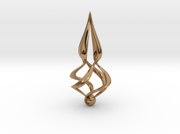 Twisted (Earring or Pendant) 3d printed