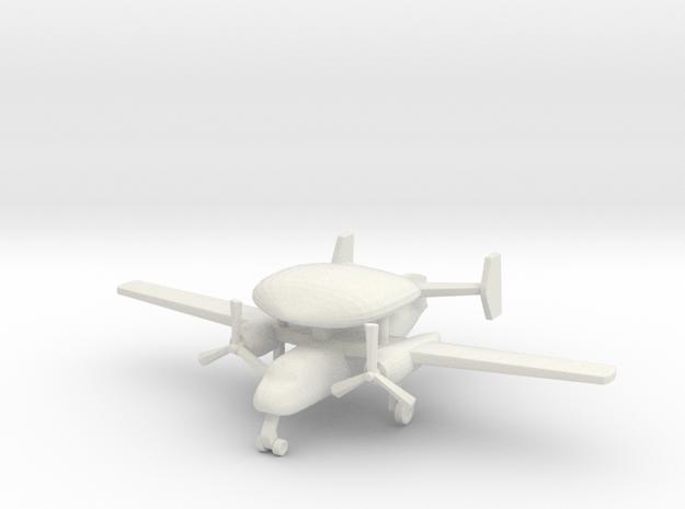 1/285 (6mm) S-2 (E-1B) Tracer in White Natural Versatile Plastic