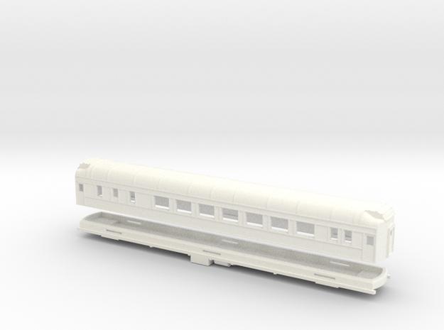 Z Scale Pullman Heavyweight Sleeper Car in White Processed Versatile Plastic