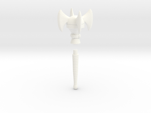 Mace of the Space Pirate (Cartoon version) in White Processed Versatile Plastic