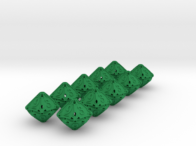 10d10 Dice Set 3d printed