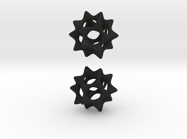 Sectik Star Earrings 3d printed