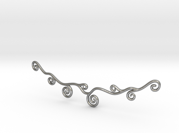 Curly Necklace in Natural Silver